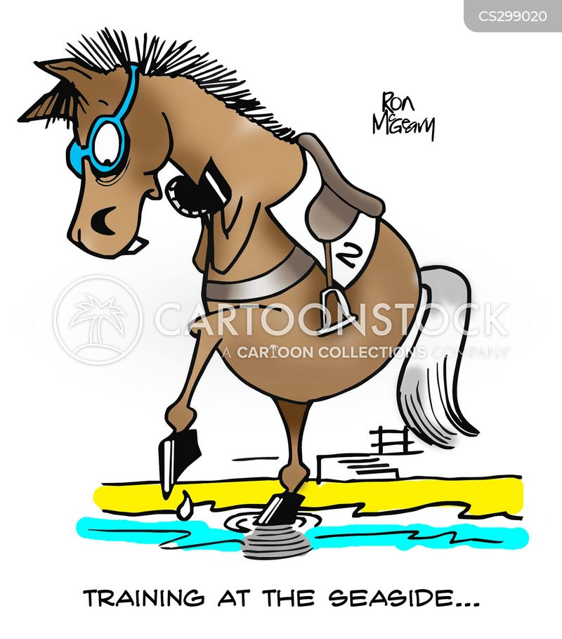 horse stables cartoon