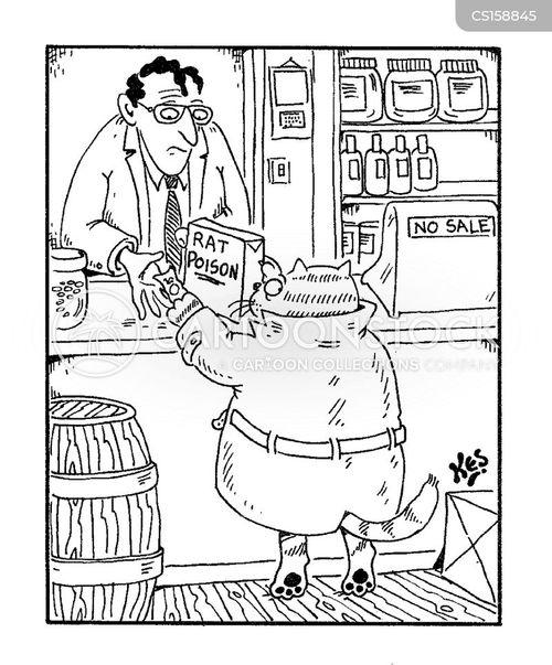 rat poison cartoon