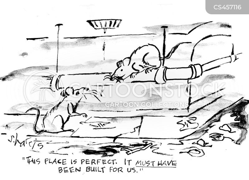 sewage cartoon
