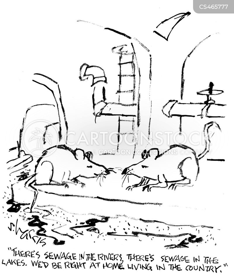 sewer pipe cartoon