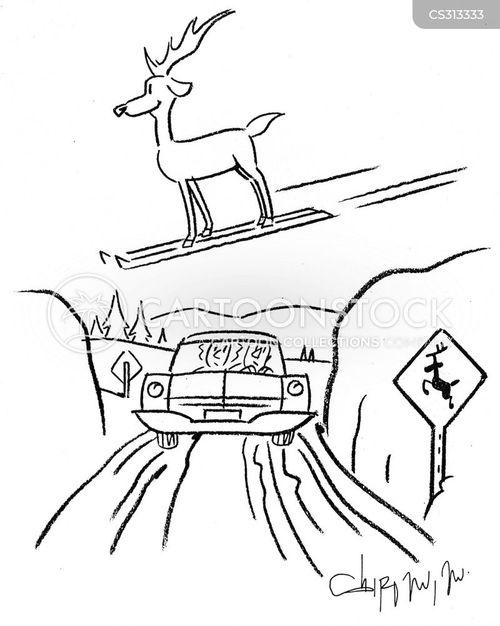 flying reindeer cartoon