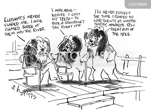old me cartoon