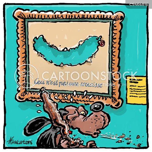 rene magritte cartoon
