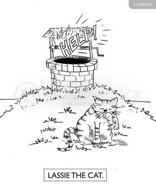 in danger cartoon