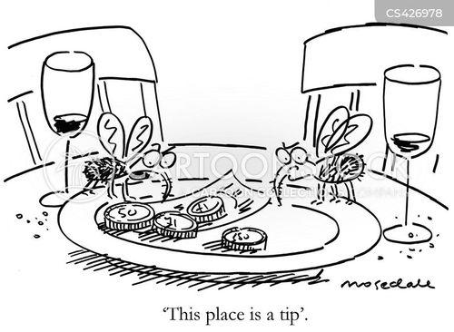 waitering cartoon