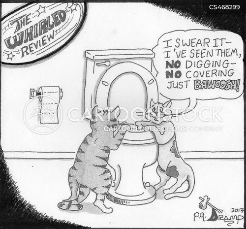 toilet etiquette cartoon