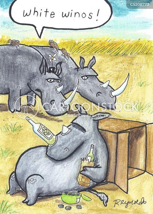 white rhinoceroses cartoon