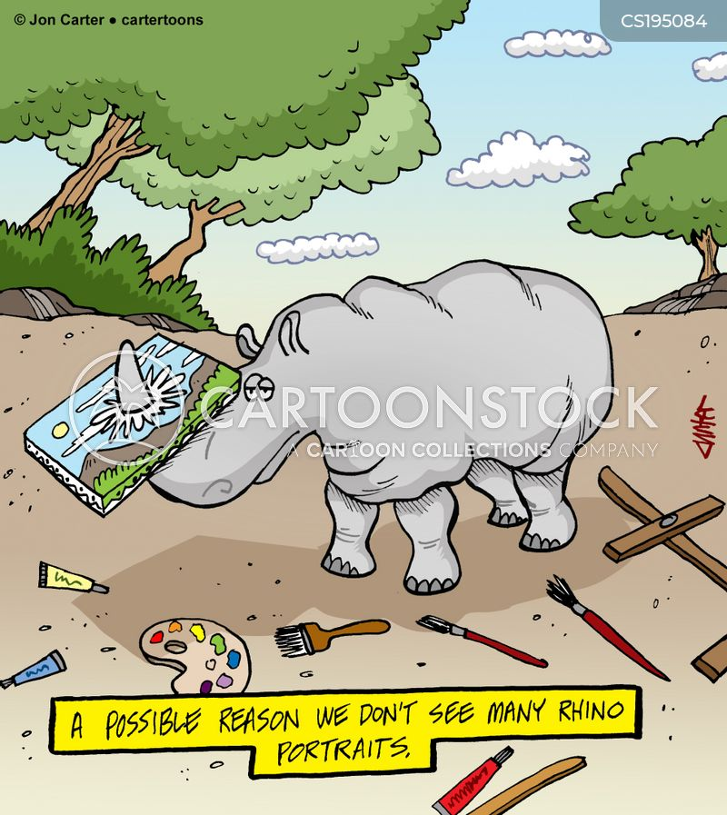 nature painters cartoon