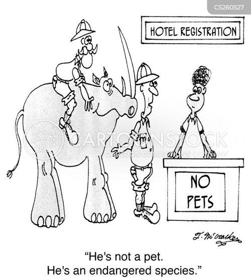 endangered specieses cartoon