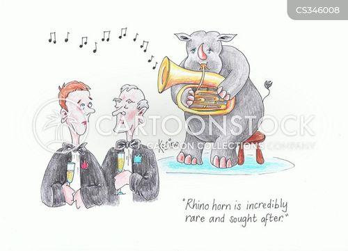horn player cartoon