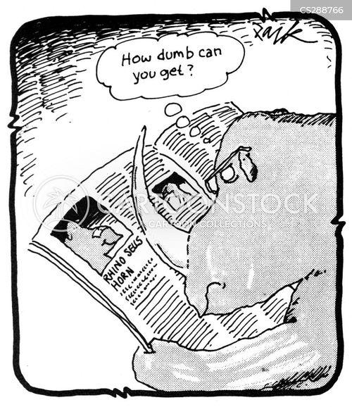 ivory trade cartoon