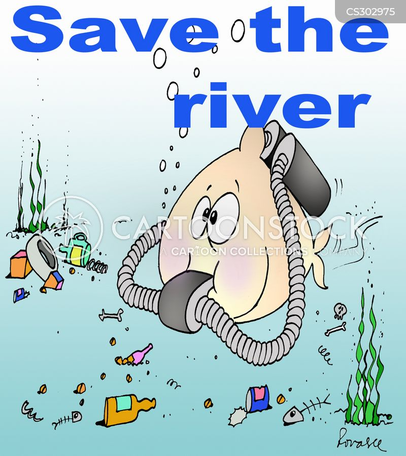 River Pollution Cartoons and Comics - funny pictures from CartoonStock