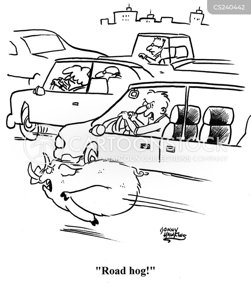 courteous driving cartoon