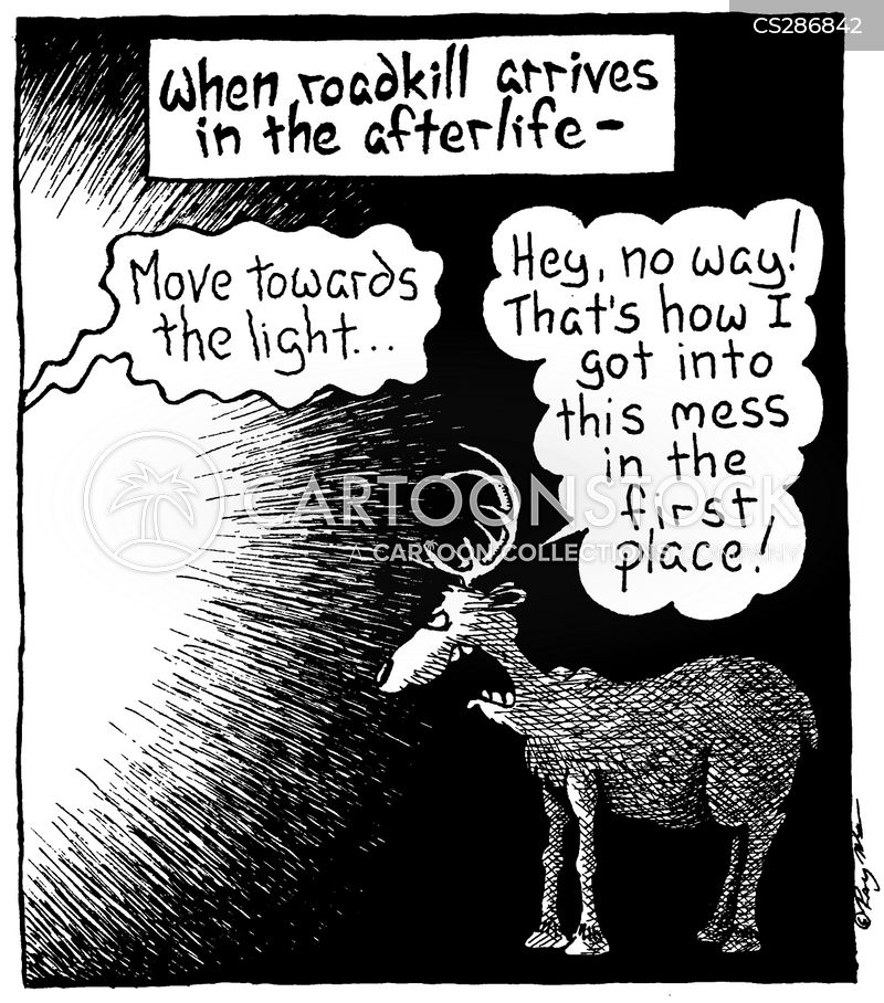 light at the end of the tunnel cartoon