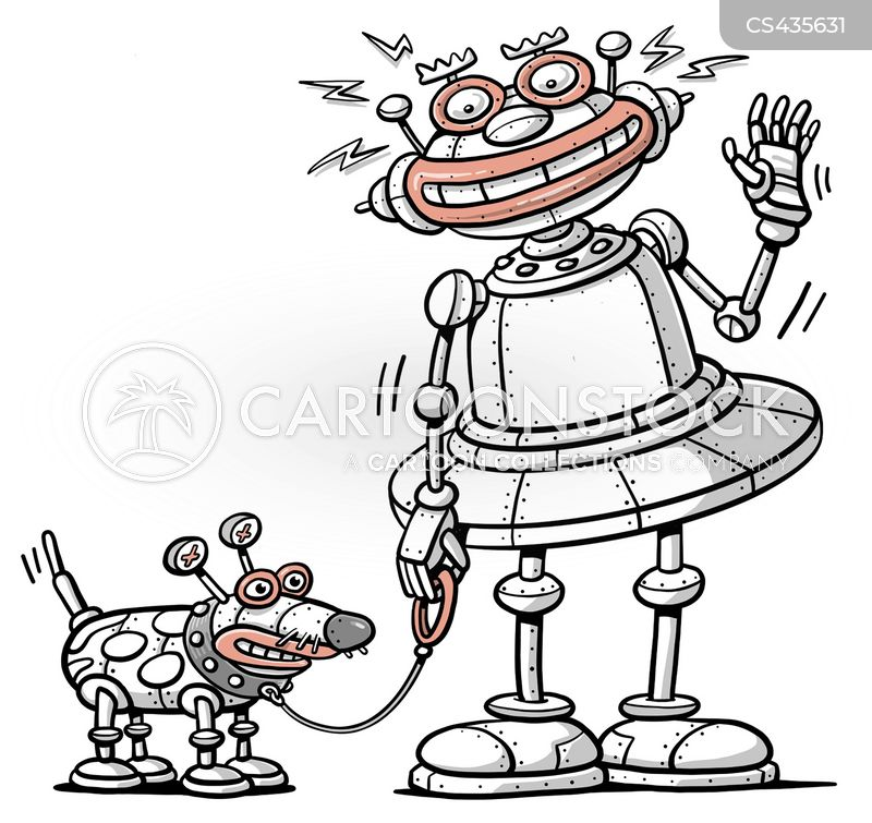 robotic pet cartoon