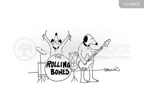 rock groups cartoon