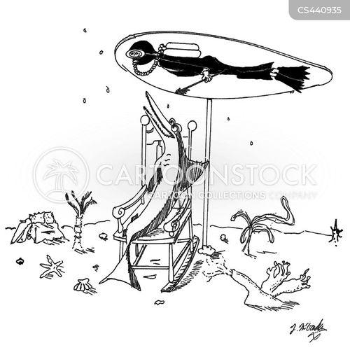spear fishing cartoon