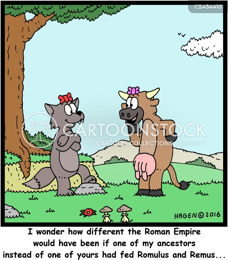 roman myths cartoon