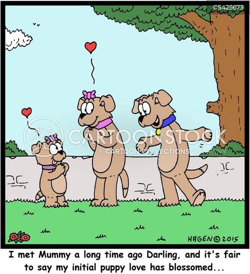 puppy loves cartoon