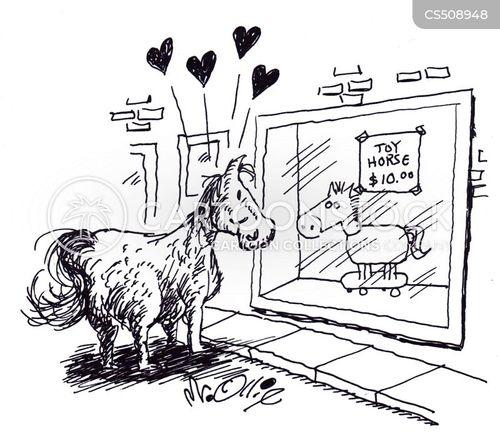 toy horses cartoon