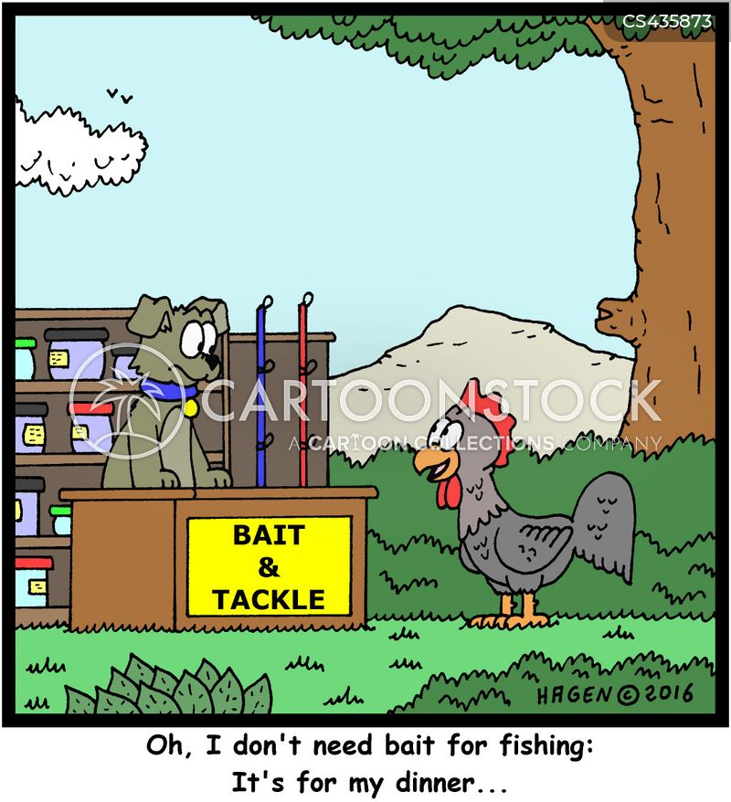 fishing supply cartoon