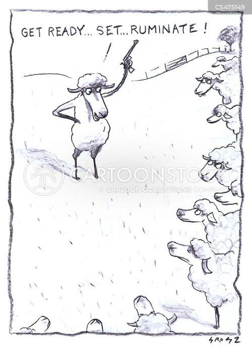flocks of sheep cartoon