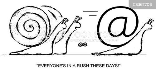 snail mail cartoon