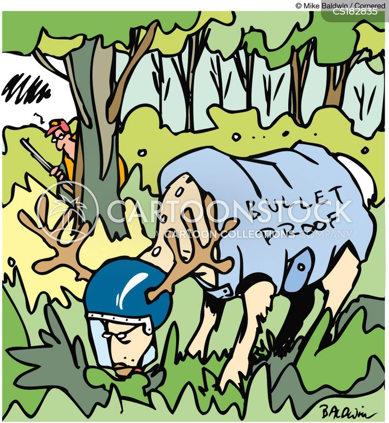 deer hunting cartoon