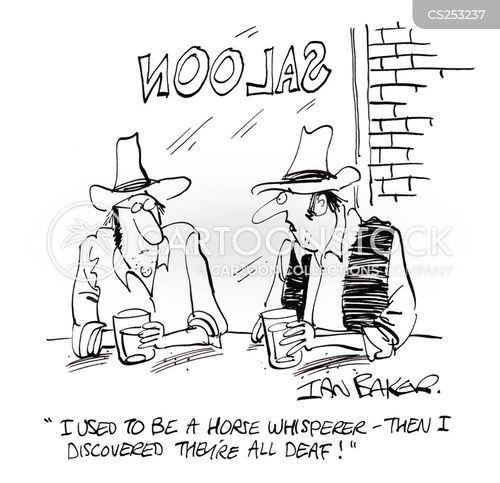 horse ranch cartoon