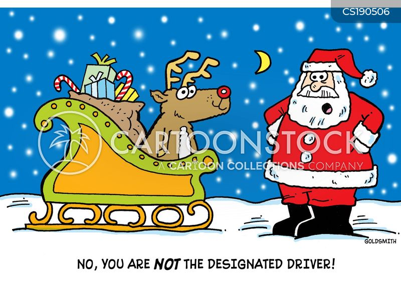 delivering gifts cartoon