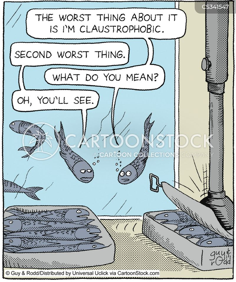 claustrophobic cartoon