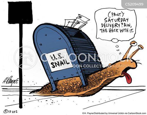 postal services cartoon
