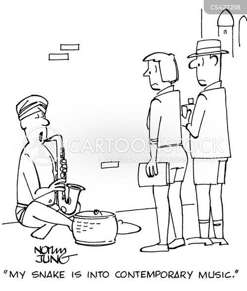 saxophone player cartoon
