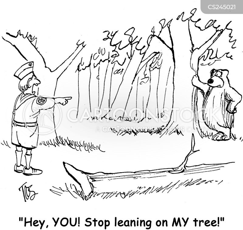 leaning cartoon