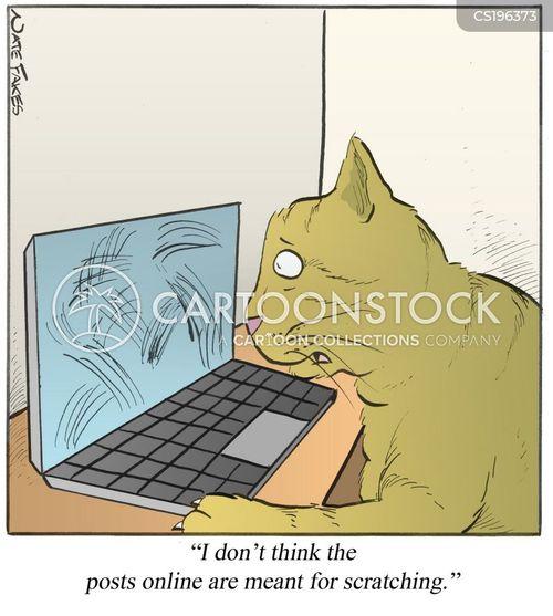 scratching post cartoon