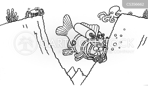 snorkellers cartoon