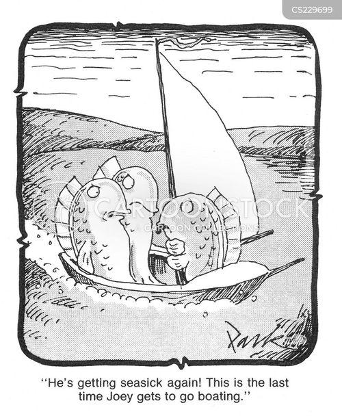 seasickness cartoon