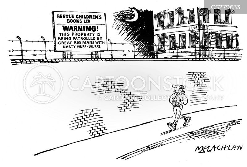 securing cartoon