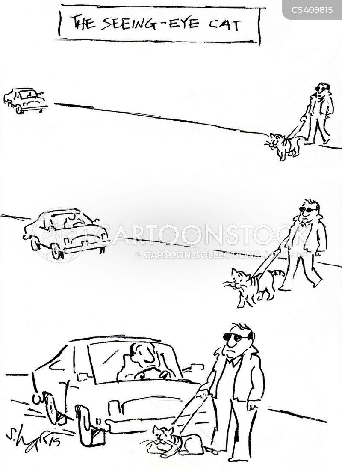 seeing eye dogs cartoon