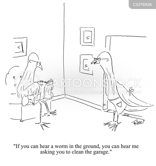 selective hearing cartoon