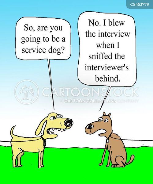service dogs cartoon