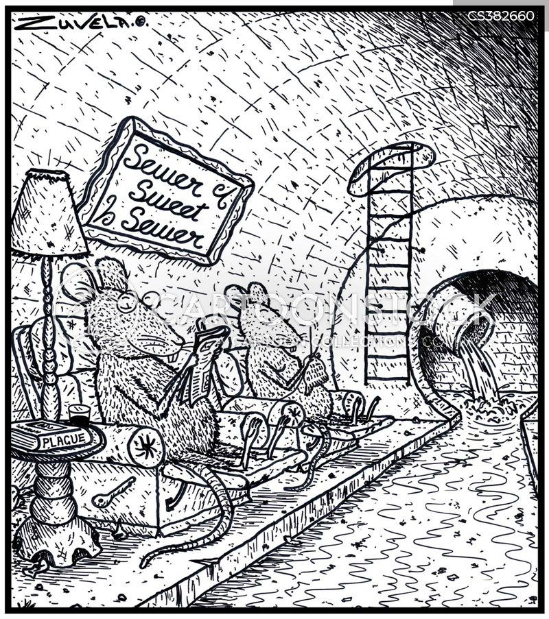 sewer systems cartoon
