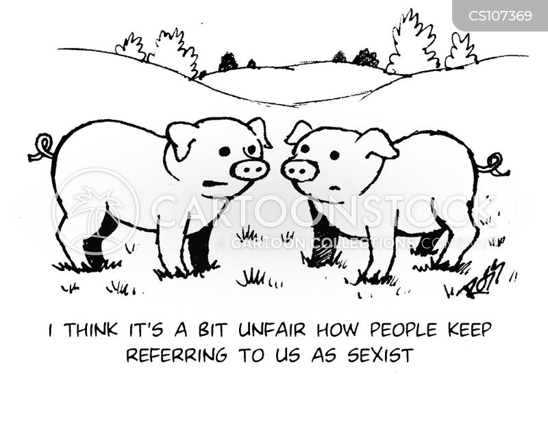 sexist pigs cartoon