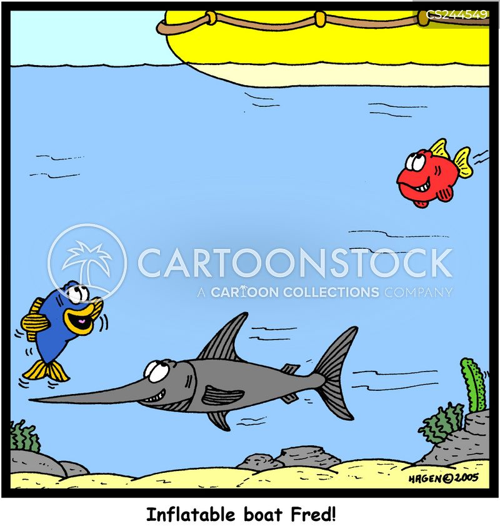 inflatable boat cartoon
