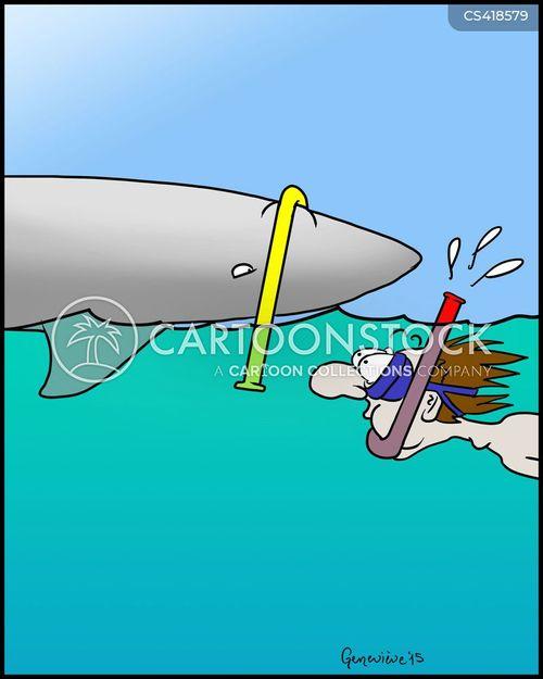 snorkel cartoon