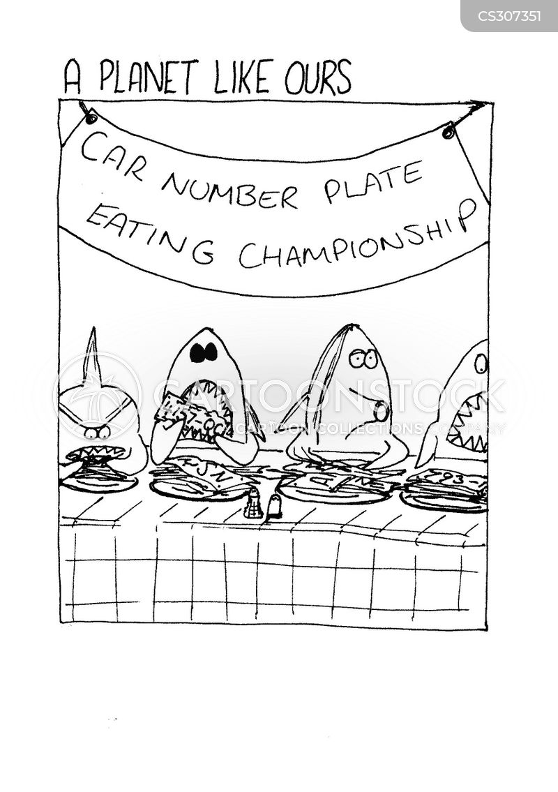 eating competition cartoon