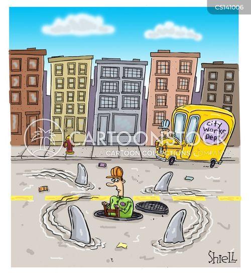 road maintenance cartoon