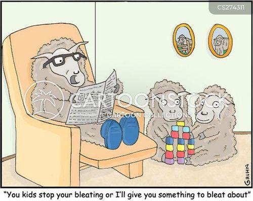 bleating cartoon
