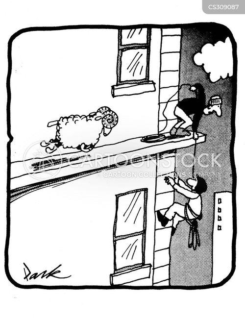 abseil cartoon