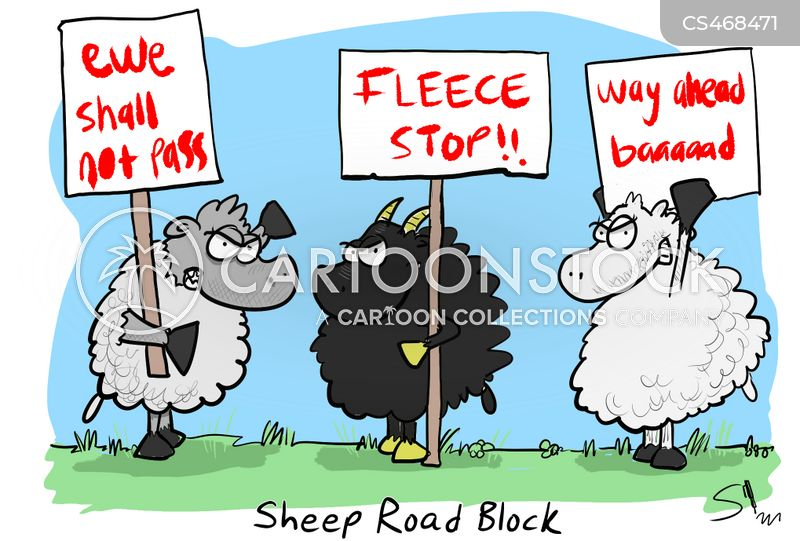 road block cartoon